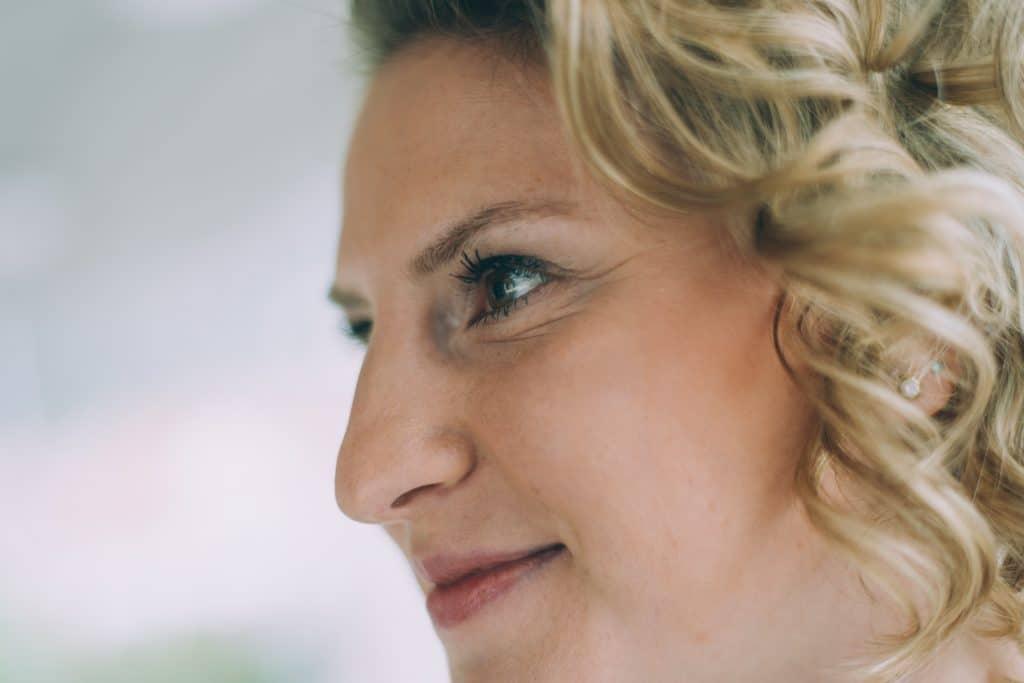 Brautportrait beim Getting Ready Makeup