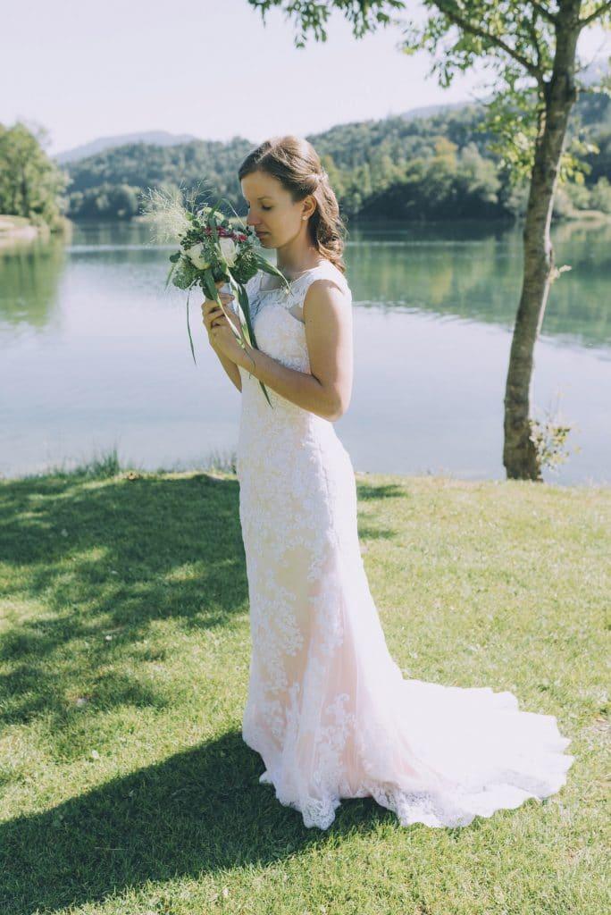 Braut am Reintalersee im Tiroler Unterland