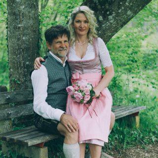 Hochzeit am Berg in Tracht